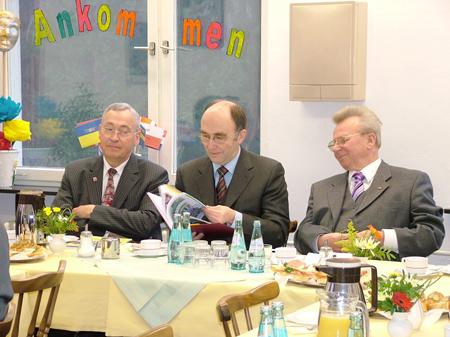 Informationsgespräch Gerold Dieke, Dr. Bergner, Rudolf Friedrich
