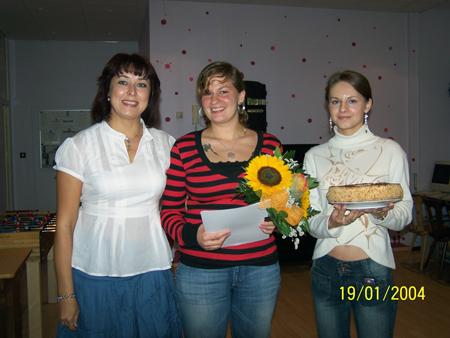 Praktikantin Eliane Reuter