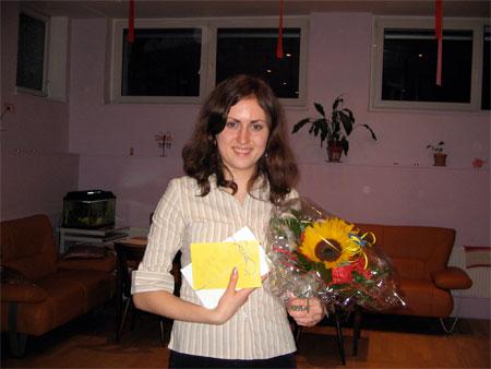 Praktikantin Lena Fleschner