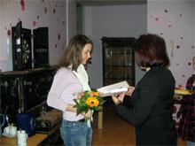 Praktikantin Lena Preißler