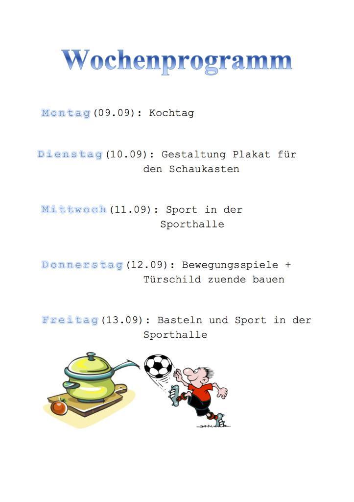 Wochenprogramm