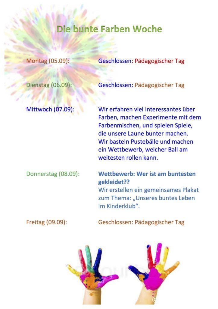 WOCHENPROGRAMM 07.09-09.09